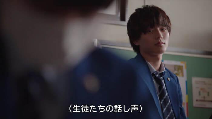 バリアフリー日本語字幕で(生徒たちの話し声)という表記が出ている画像