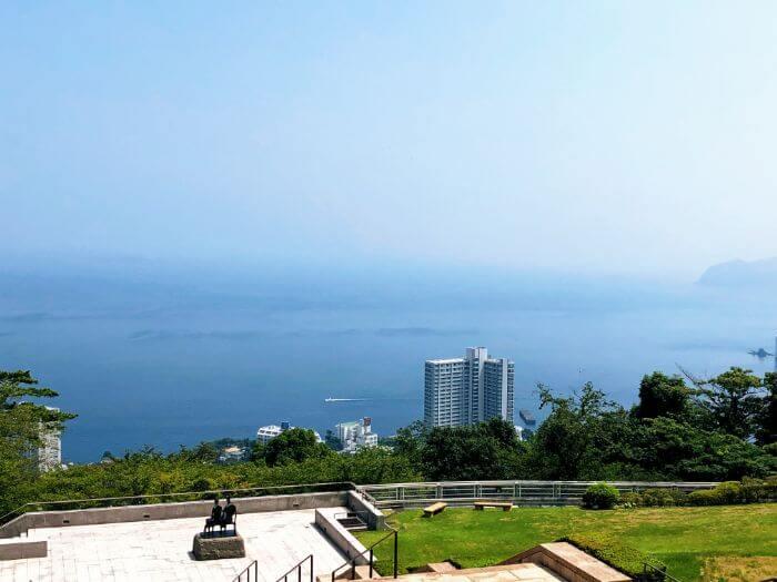熱海のMOA美術館からの景色
